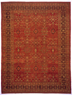 72BT103DZ Antiqued Red Isfahan